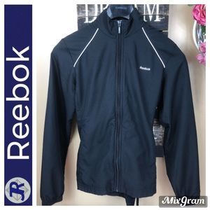NWOT Reebok Track Suit Black Top And Bottom XS